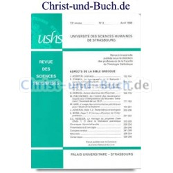 Revue des Sciences Religieuses - Aspects De La Bible Grecque No 2 Avril 1999